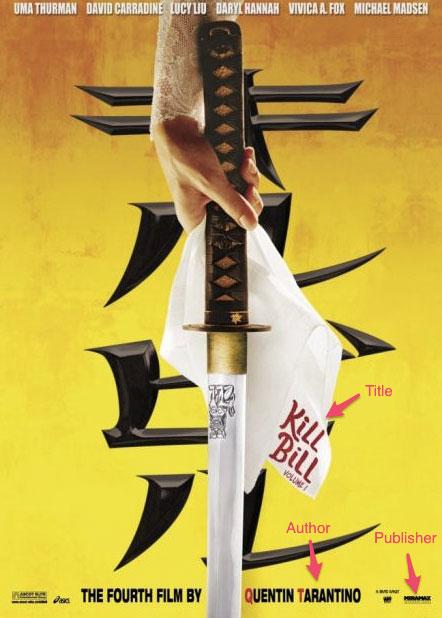 Kill Bill Movie Poster with highlights